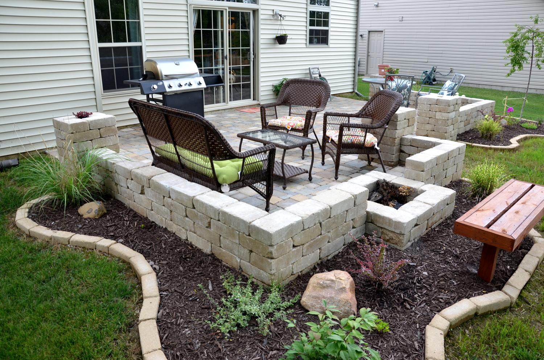 we share diy backyard paver patio outdoor oasis tutorialthe
