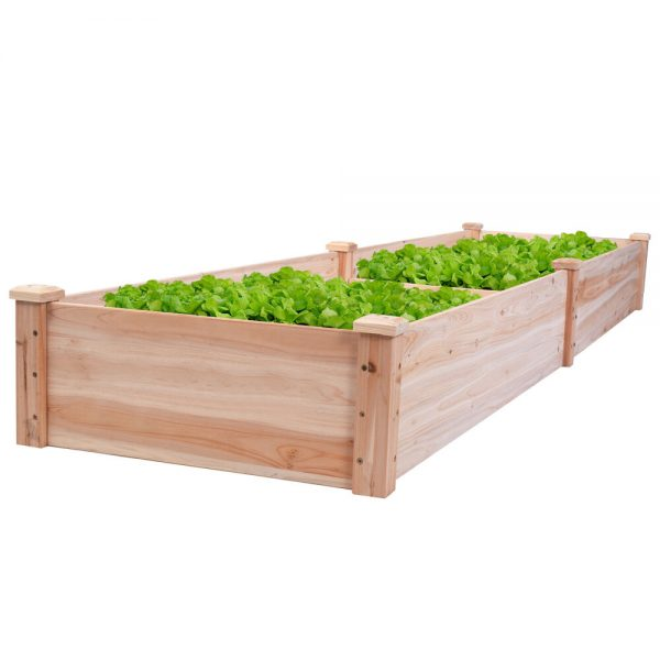 We Share Wooden Vegetable Raised Garden Bed Patio Backyard Grow Medium