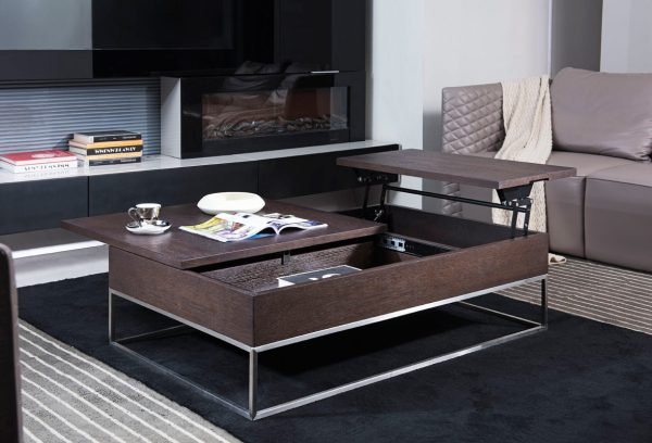 Bore Modrest P509a Contemporary Brown Oak Coffee Table Modern Medium