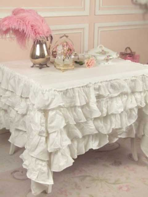 Browse Ruffle Tablecloth Shabby Chic Style Tablecloth Vintage Medium