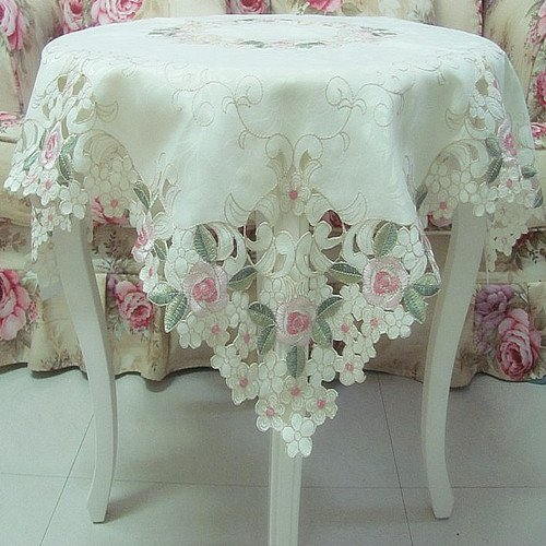 Example Of A Fadfay Home Textileelegant Shabby Vintage Floral Table Medium