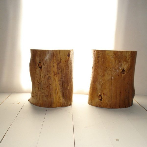 Example Of A Tree Stump Side Table Seat Medium
