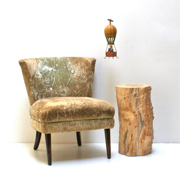Explore Tree Stump Nightstand End Side Table Stool Seat Organic Medium