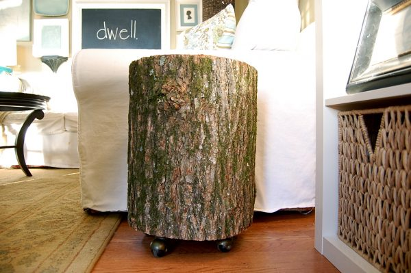 Fresh Wood Stump Side Table Add Stunning And Rustic Look To A Medium
