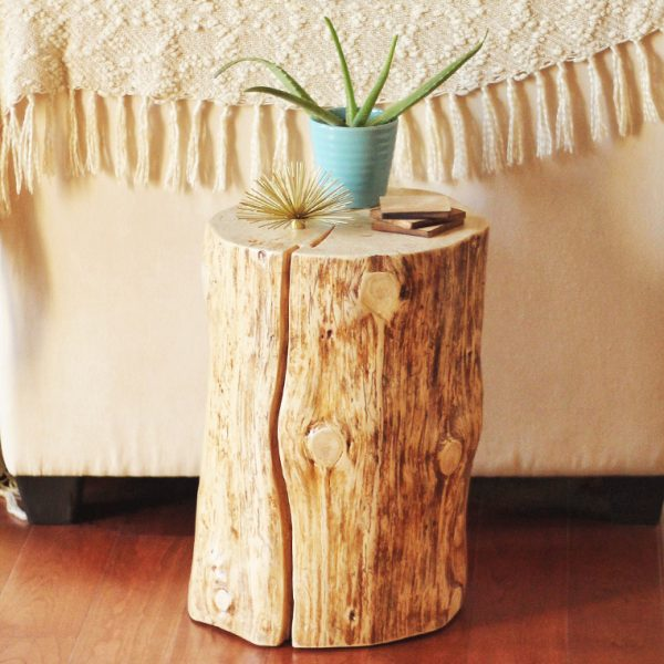 Get Diynatural Tree Stump Side Table Justinecelina Medium