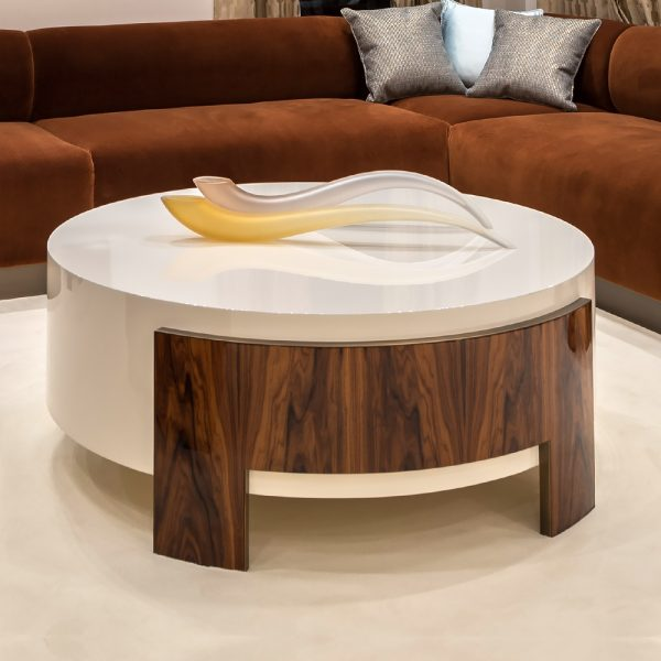 Perfect Contemporary Round Ivory Coffee Tablejuliettes Interiors Medium