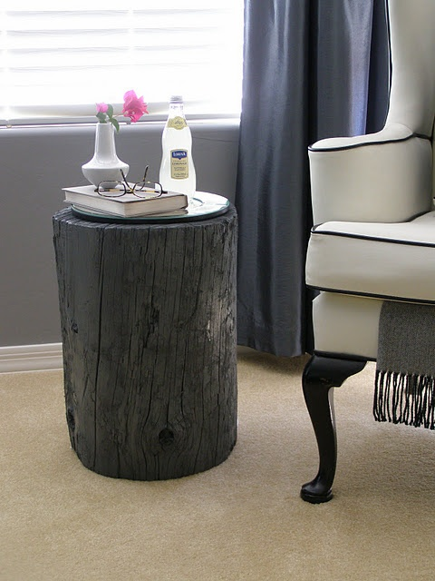 Search Diy Tree Stump End Table Tutorial For The Cabin Or The Medium