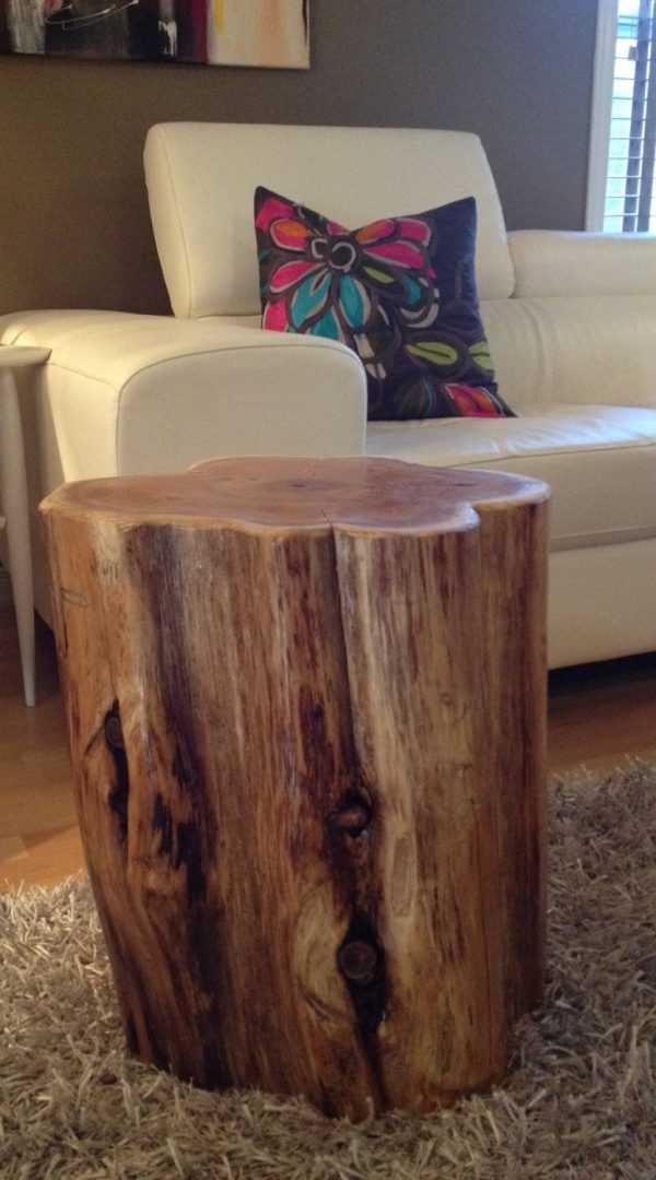 Tips Wood Stump Side Tables End Tables Coffee Tablesrustic Medium