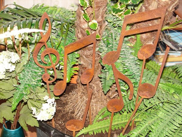 Best Metal Musical Notes Garden Stakes Set Yard Decor Music Medium
