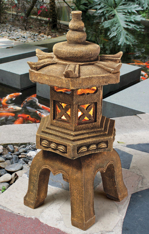 Best Pagoda Lantern Lighted Garden Statue Medium