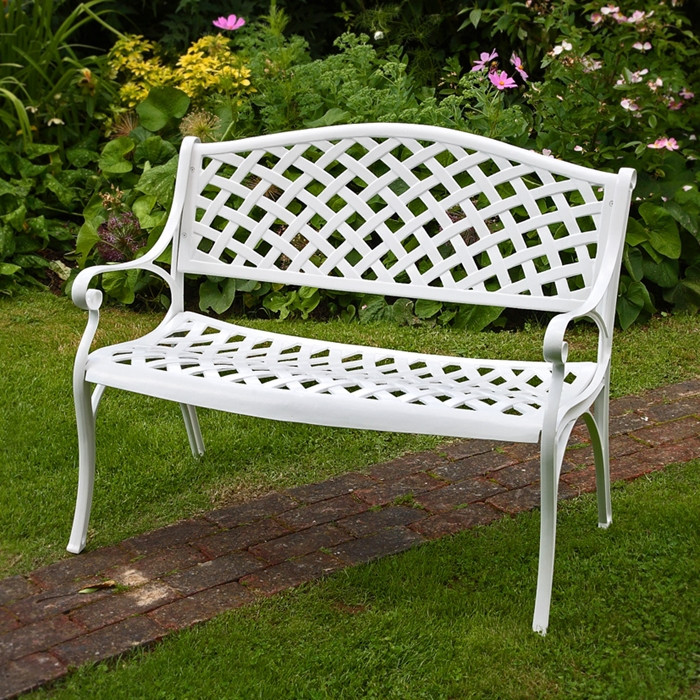 bore coopers of stortford metal garden bench from coopers of