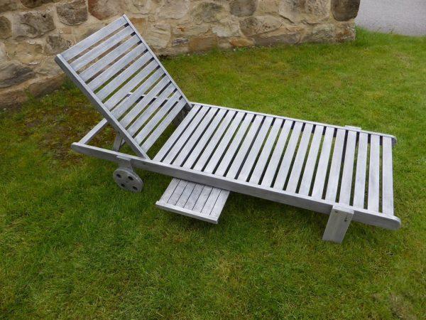 Browse Garden Sun Lounger Relaxer Chairs Antique Grey Fsc Medium