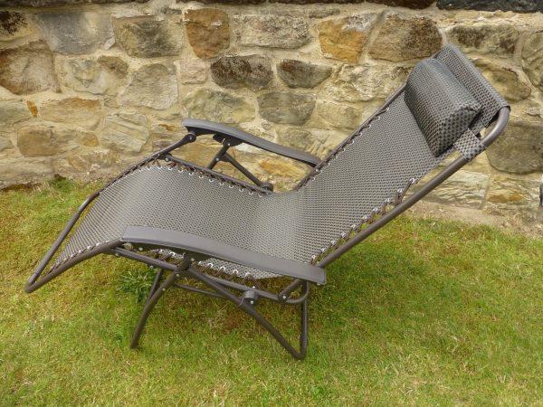 Browse Set Of 2 Garden Chairs Brown Sun Lounger Recliner Chair Medium