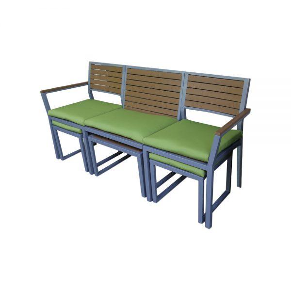 Collection Ae Outdoor Pelham Aluminum Garden Bench   Reviewswayfair Medium