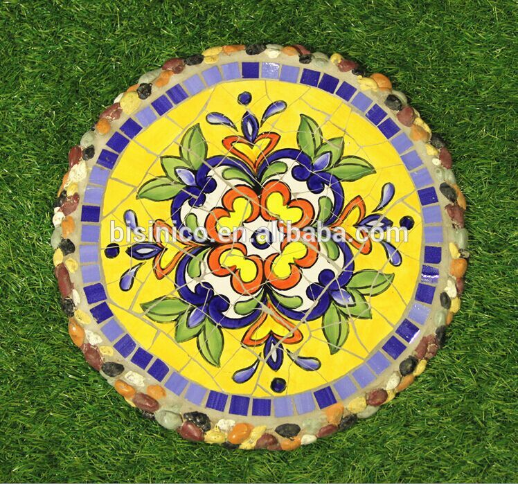 collection ceramics mosaic stepping stone mexico style outdoor