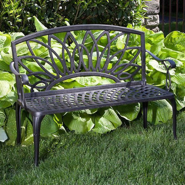 Collection Daffodil Castaluminum Outdoor Bench At Wayside Gardens Medium