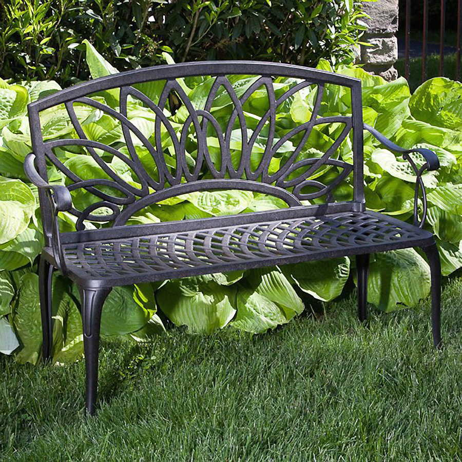 collection daffodil castaluminum outdoor bench at wayside gardens