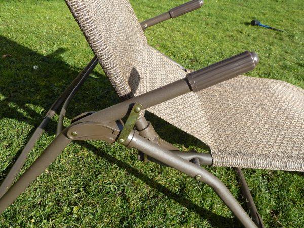 Creative Brown Garden Sun Lounger Chair Weatherproof Textoline Medium