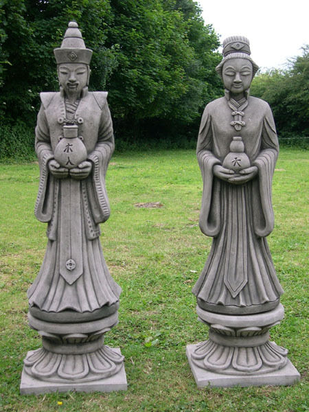 Example Of A Pair Of Oriental Stone Garden Statuesebay Medium