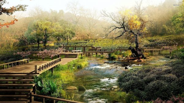 Fresh Japanese Garden Wallpapers Wallpaper Cave Medium