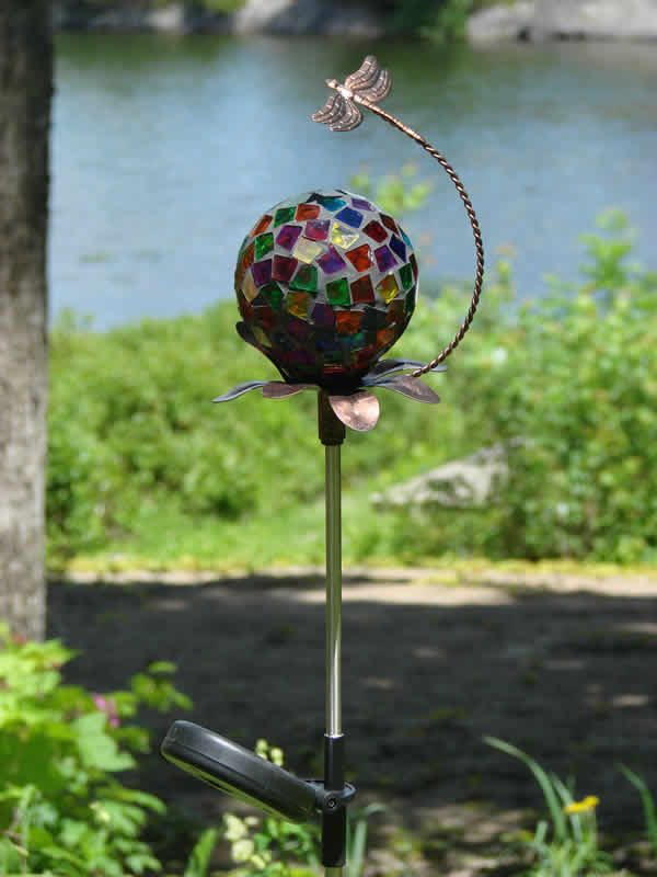 Fresh Solar Mosaic Stake Dragonfly Mondus Distinction Garden Medium