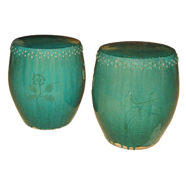 Get Green Ceramic Garden Stool At 1stdibs Medium