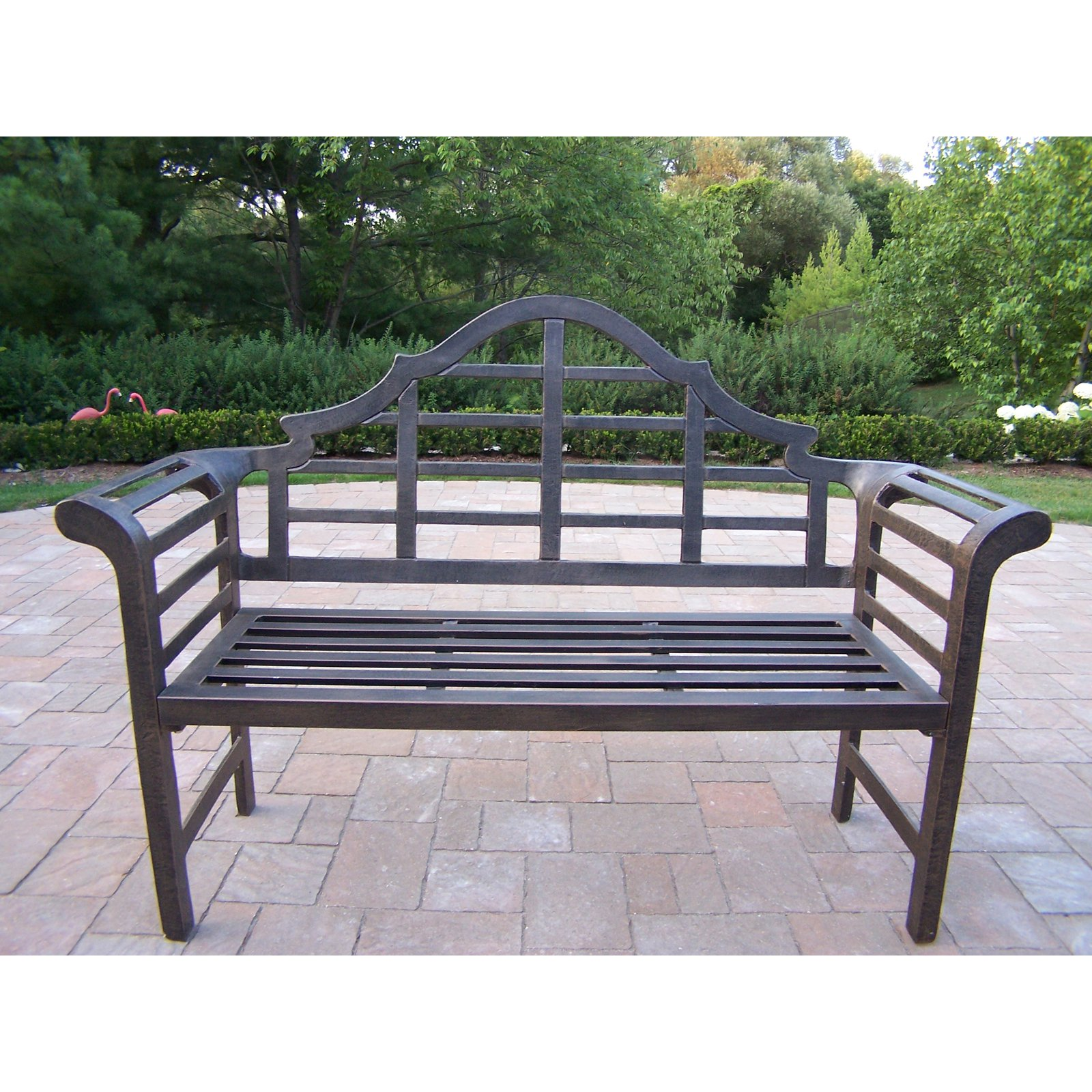 get oakland living king louis cast aluminum lutyens bench