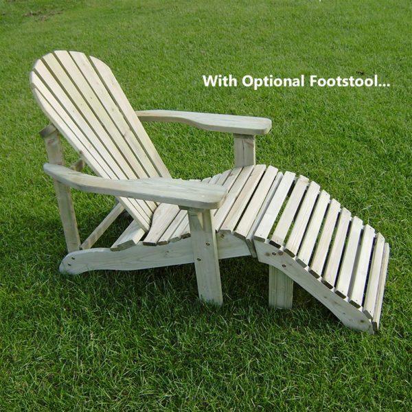 Innovative Adirondack Style Wooden Garden Loungerinternet Gardener Medium