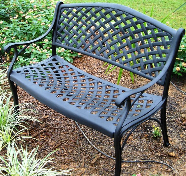 innovative nassau cast aluminum garden bench free shipping today