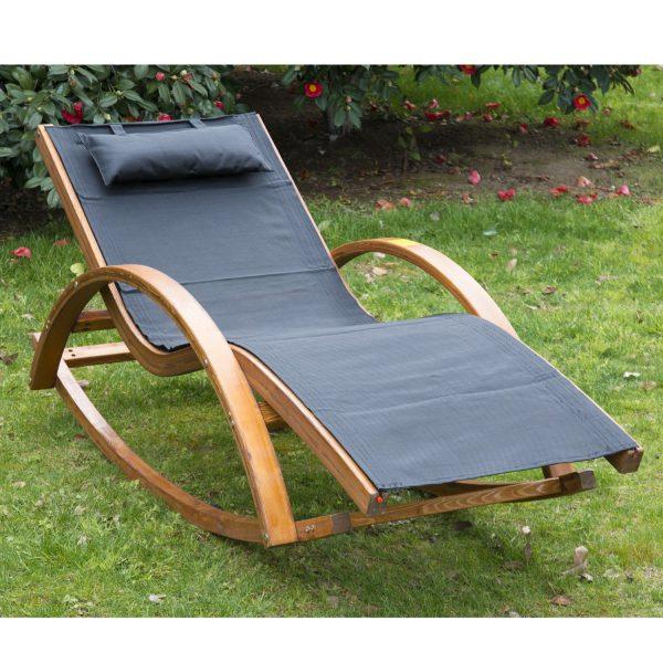 Innovative Outsunny Rocking Chair W  Cushionblack Medium