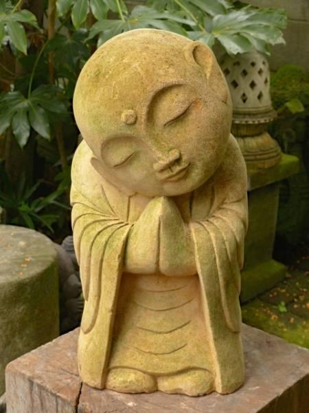 Inspirational Fine Japanese Garden Zen Monk Jizo Buddha Boddisatva Medium
