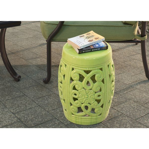 inspirational shop lime green ceramic garden stool free shipping today medium