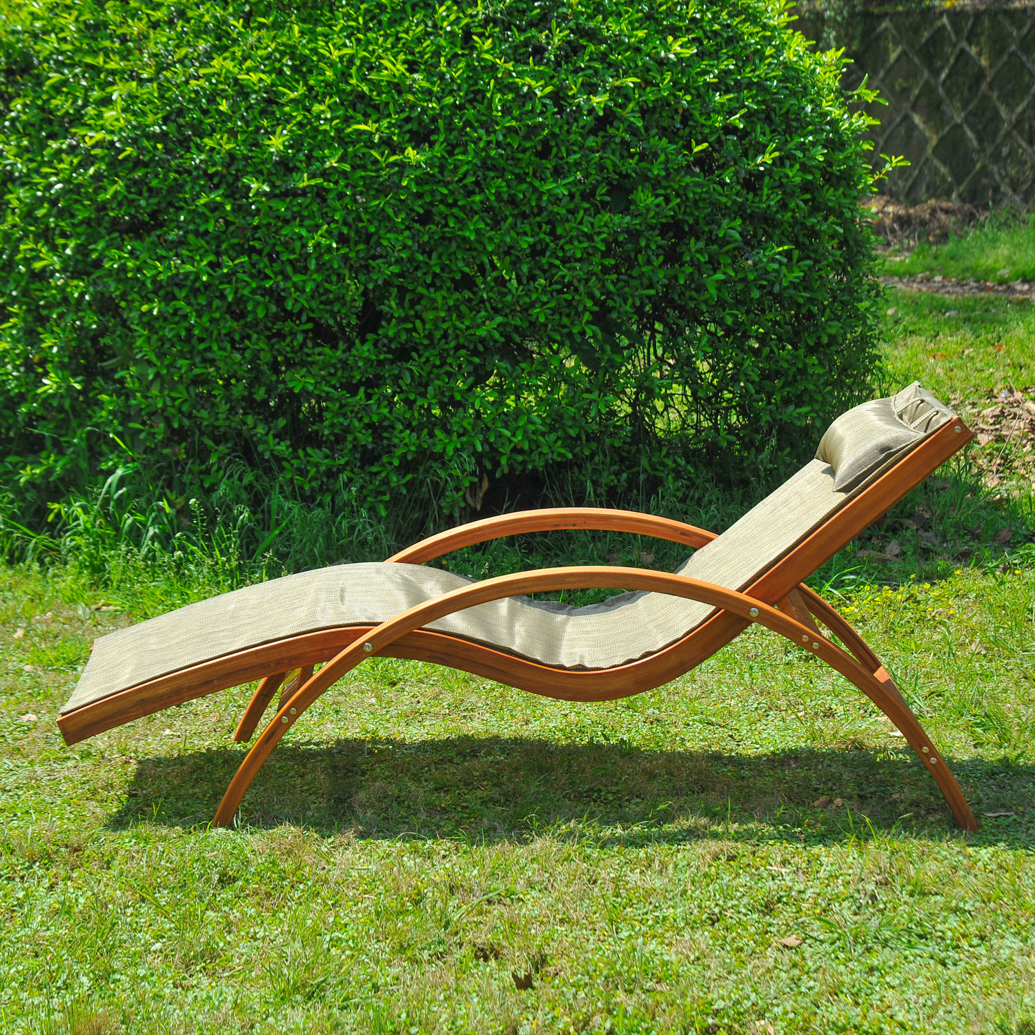 looking wooden patio chaise lounge chair outdoor furniture pool