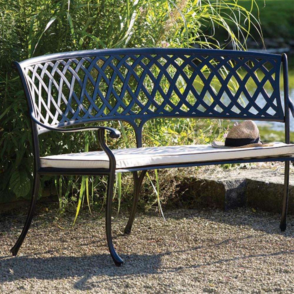 our favorite bramblecrest florence cast aluminium 8 seat bench garden