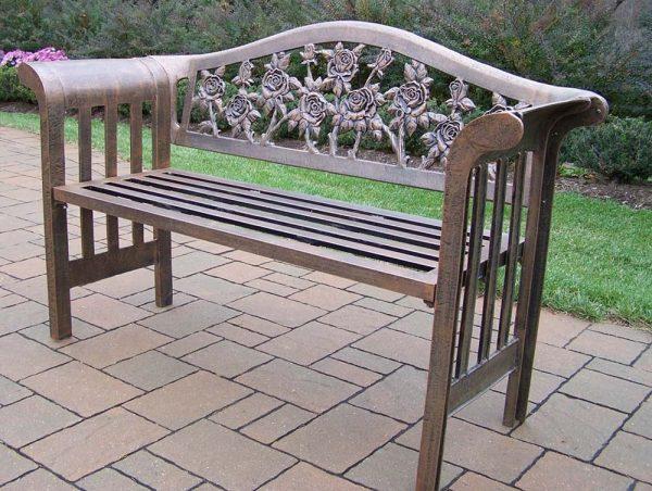 Our Favorite Cast Aluminum Cast Aluminum Garden Bench Medium