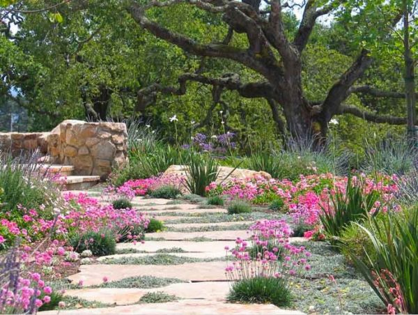 Perfect A Charming Mediterranean Flagstone Pathway Medium