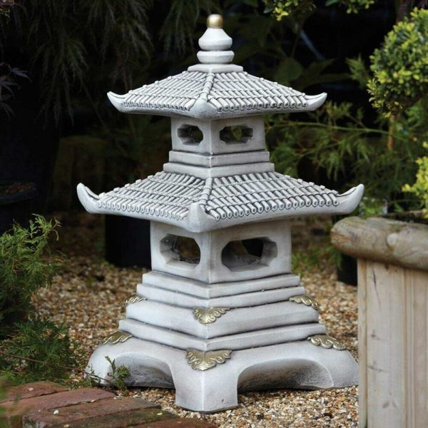 Popular Chinese Garden Ornaments Two Tier Japanese Pagoda Medium