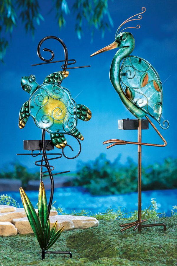 Popular Solar Lighted Seashore Decorative Garden Stakes Turtle Medium
