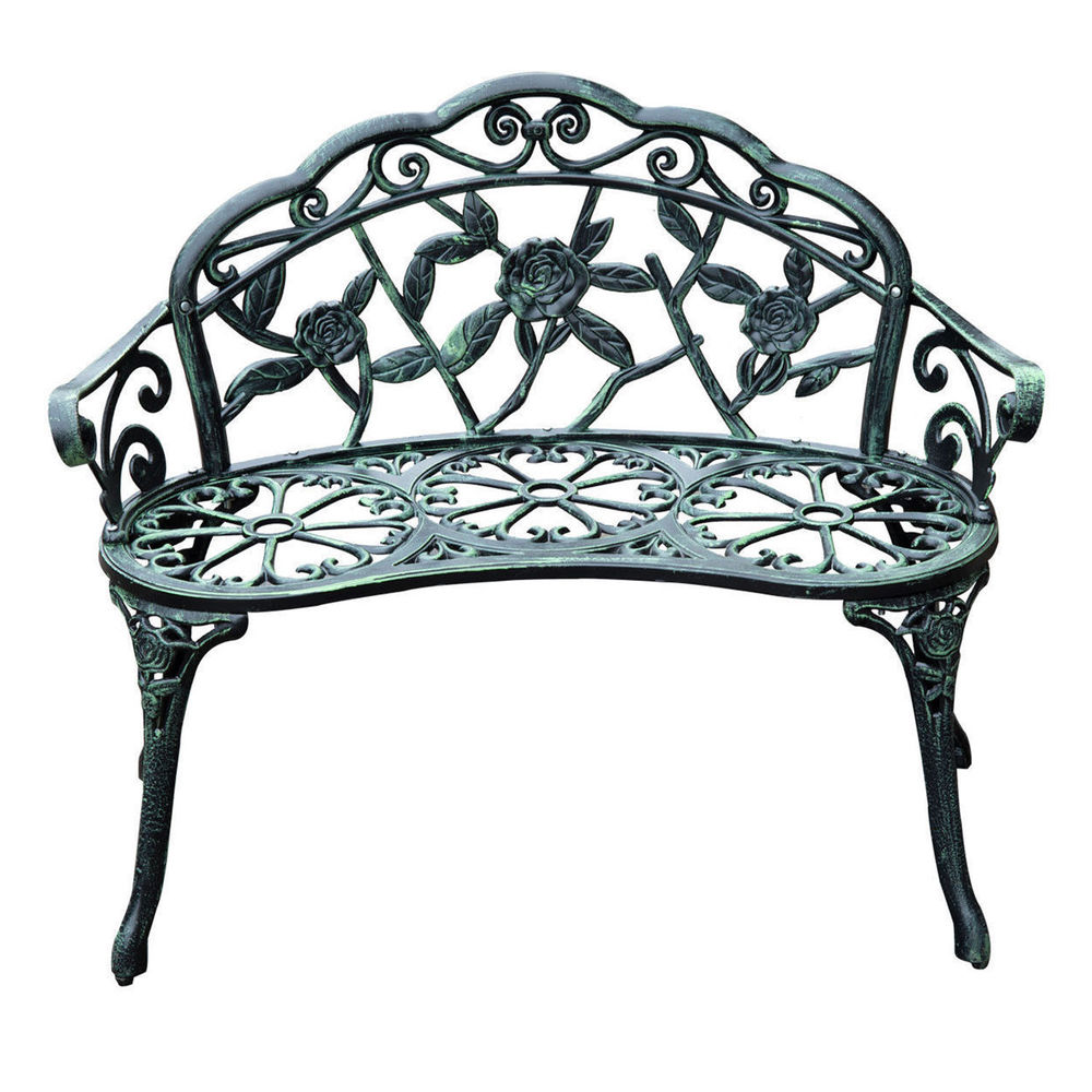 search 40 antique style patio porch garden bench cast aluminum