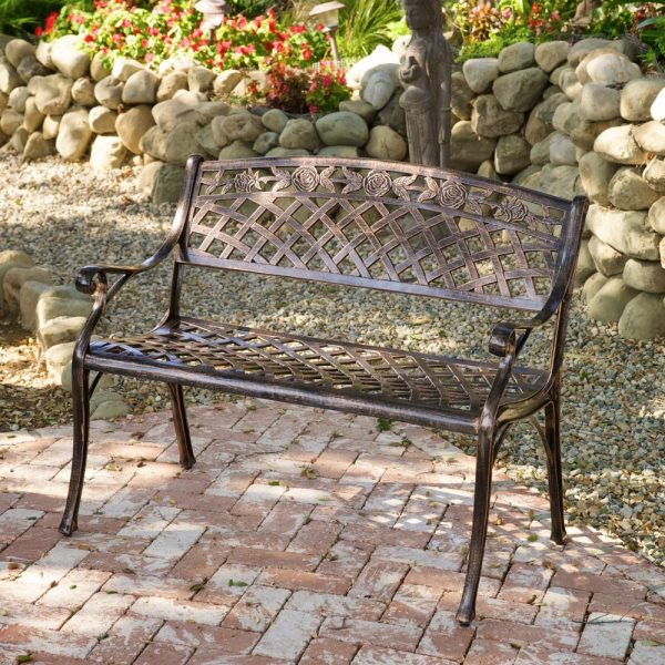 Search Outdoor Patio Furniture Cast Aluminum Garden Benchebay Medium