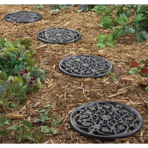 Tips 4 Pk Cast Iron Stepping Stones 160074 Decorative Medium