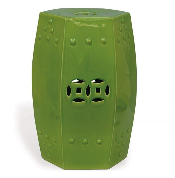 Tips Green Apple Modern Asian Garden Seat Bunching Stool Medium