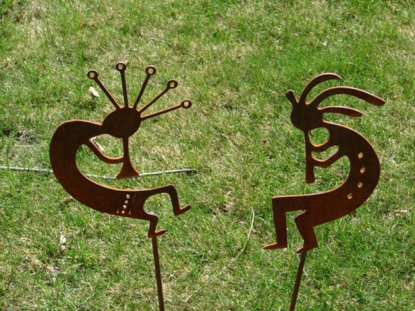 Tips Metal Dancing Kokopelli Garden Stakes Set Yard Decorebay Medium