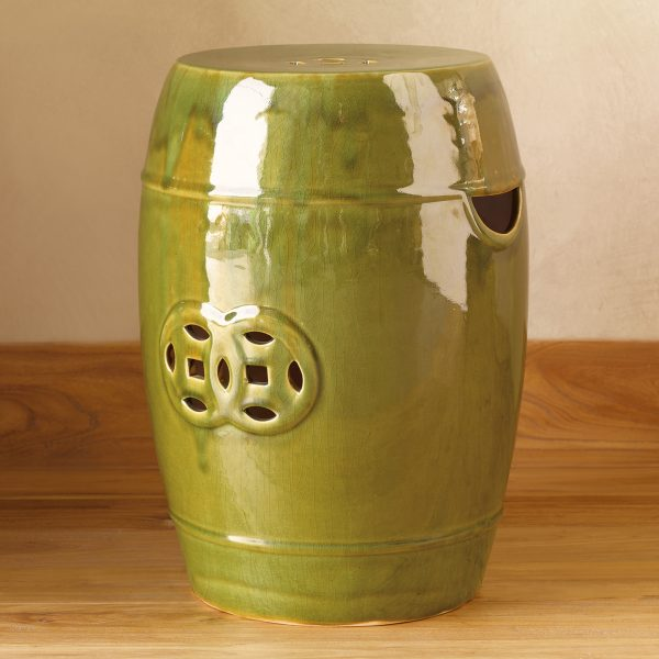 Top Glazed Green Garden Stoolgumps Medium