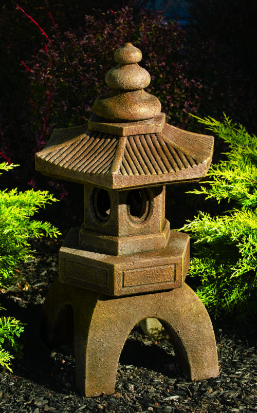 We Share Asian Bamboo Pagoda Large Garden Sculpture Medium