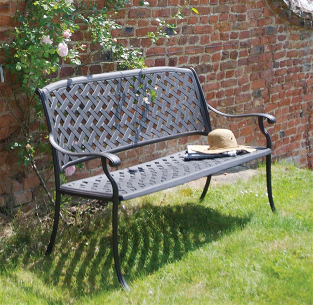 we share bramblecrest rimini cast aluminium garden benchinternet