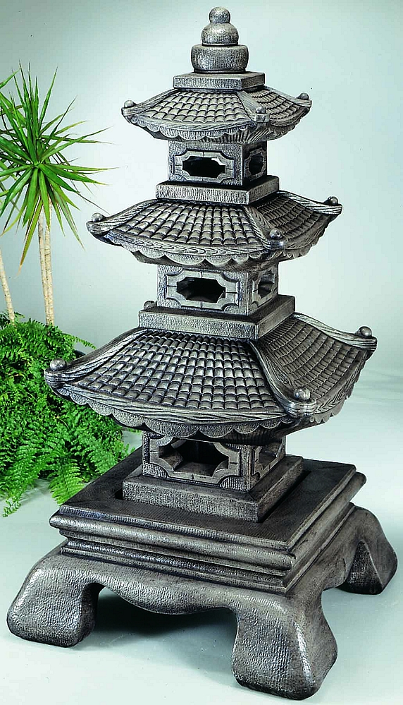 We Share Giant Tiered Stone Garden Pagoda Lantern 5 Pc Medium