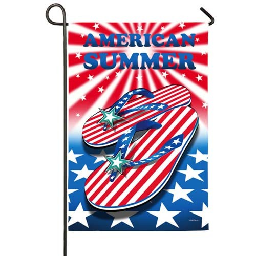 American Summer Garden Flag Medium