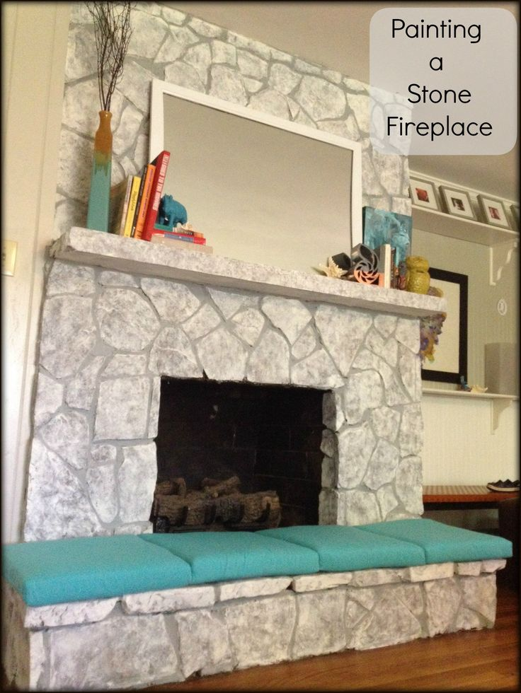 best 17 best ideas about painted stone fireplace on