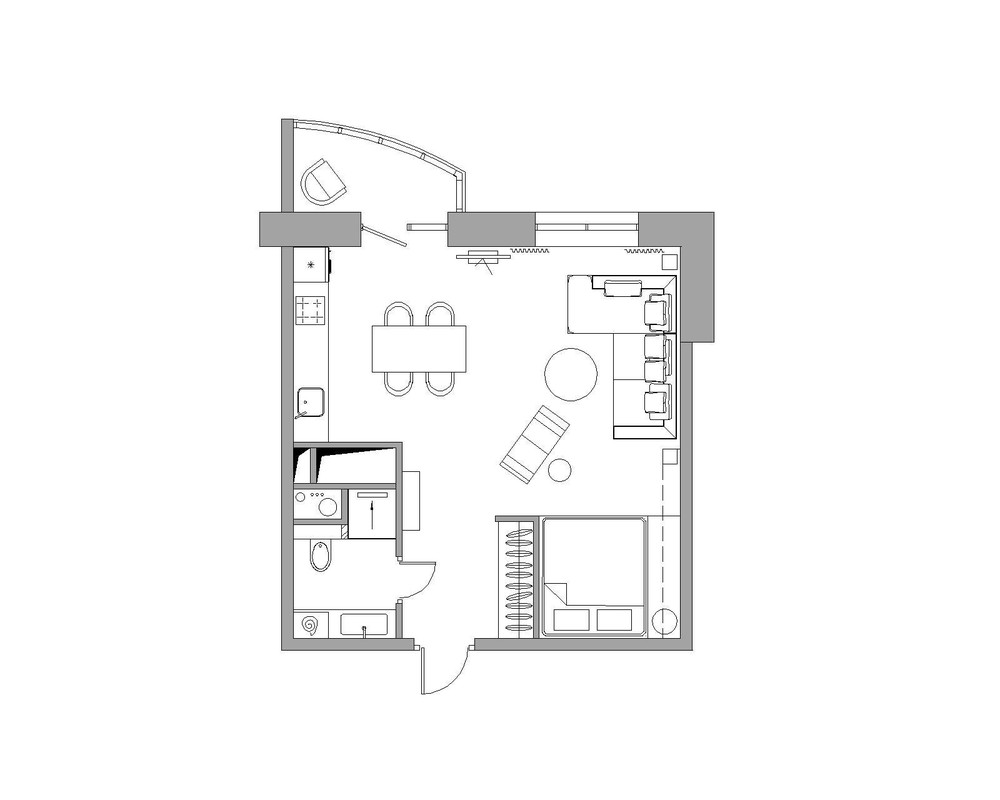 best apartment designs for a small family young couple and a